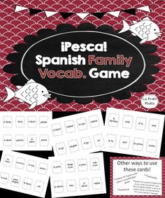Fun Go Fish game even high schoolers love to help students learn family vocabulary in Spanish. Versatile cards can be used for other activities like Charades and Memory, too!