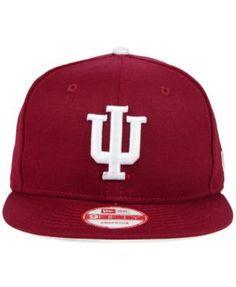 buy popular 78627 ea672 New Era Indiana Hoosiers Core 9FIFTY Snapback Cap - Red Adjustable
