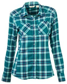 Ascend Sweet Creek Plaid Shirt for Ladies | Bass Pro Shops // Perfect for hiking and setting up camp! #FlannelFest
