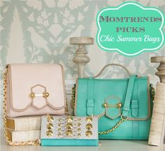 Is there anything fresher than mint and white? #handbags #trends