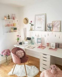 Home Office Space, Home Office Design, Home Office Decor, Home Decor, Small Office, Room Design Bedroom, Room Ideas Bedroom, Bedroom Decor, Study Room Decor