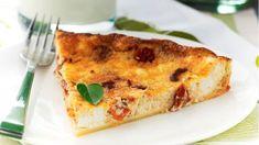 Τάρτα με λιαστή ντομάτα και ανθότυρο Quiche, French Toast, Recipies, Pizza, Breakfast, Food, Pies, Recipes, Morning Coffee