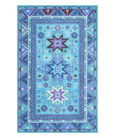 I would love to have this Blue Hand Tufted Dalila Area Wool Rug in my living room #zulily #zulilyfinds