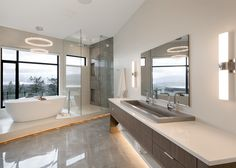Native Trails NativeStone Trough 4819 in this Vancouver bathroom by Gibson Contracting