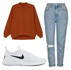 """Untitled #49"" by exc4libur on Polyvore featuring Monki, Topshop and NIKE"