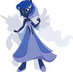 Equestria Girls - Princess Luna by *Rariedash on deviantART