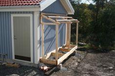 Garden Tool Storage, Shed Storage, Backyard Sheds, Outdoor Sheds, Dog Friendly Backyard, Diy Cabin, Building A Porch, Wood Shed, She Sheds