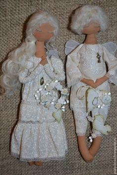 Коллекционные куклы ручной работы. Ярмарка Мастеров - ручная работа Ангелочки в детскую. Handmade.