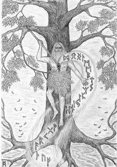 ... Eihwaz ... Odin`s self-sacrifice ... by AnnaIceflames