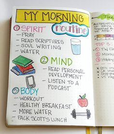 My morning routine is the most important part of my self-care practice. Come see a peek inside the routine that works for me! My morning routine is the most important part of my self-care practice. Come see a peek inside the routine that works for me! Journal Layout, My Journal, Journal Pages, Bullet Journal Goals Layout, Bullet Journal Tracking, Bullet Journal Inspiration, Self Care Bullet Journal, Bullet Journals, Vision Journal Ideas
