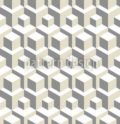 Geometric pattern design with spatial effects and sandy tonal colors.