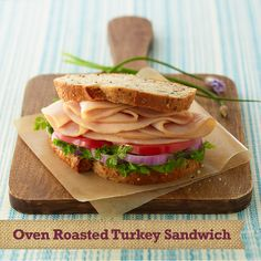 Some things never change... Like how satifying a tasty #sandwich can be! #recipe Oven Roasted Turkey Sandwich #ingredients: Whole grain bread, Parsley, Red onions, Heirloom tomatoes, Natural Choice® Honey Deli Turkey