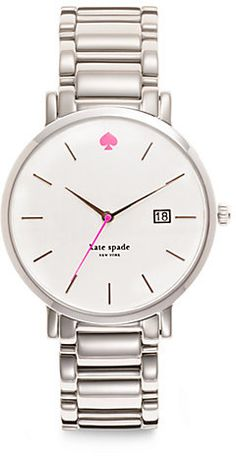Kate Spade Gramercy Silvertone Stainless Steel Watch on shopstyle.com.au