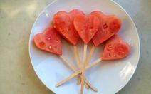 Frozen Watermelon Pops : 5th birthday treat