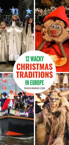 Discover 12 wacky Christmas traditions in Europe like Iceland's scary Yule cat, Spain's gift pooping log, and the Czech Republic's golden pig. These European holiday customs will both delight and… More Road Trip Europe, Europe Travel Guide, Travel Guides, Kids Activities At Home, Travel Activities, Winter Travel, Holiday Travel, Christmas Travel, Travel With Kids