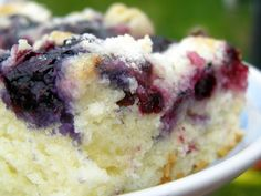 Just in time for Litchfield's delicious blueberry harvest - a fabulous blueberry coffee cake recipe from LWC co-president Jean White, who said she got this recipe from a Seattle, WA-area restaurant...