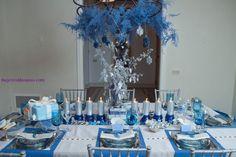 Hanukka Table Settings - Shops Ikea and West Elm for a Hanukka Blue Table Setting! | Kosher Recipes and Jewish Table Settings