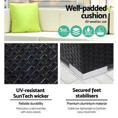 12PC Outdoor Furniture Sofa Set Wicker Garden Patio Lounge