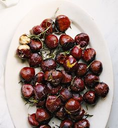 You can practically hear the jingle bells ringing with this plate of Buttery Roasted Chestnuts