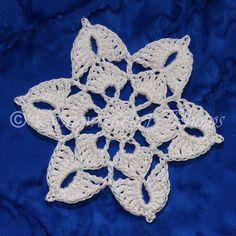 Ravelry: Windom Peak Snowflake pattern by Deborah Atkinson - free Snowflake Quilt, Crochet Snowflake Pattern, Crochet Snowflakes, Crochet Motif, Crochet Doilies, Crochet Flowers, Crochet Patterns, Crochet Angels, Crochet Stars