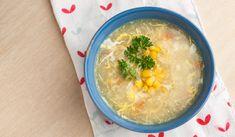 Maïssoep met kip #soep #simpel #snel #recept #recipe #kip #maïs