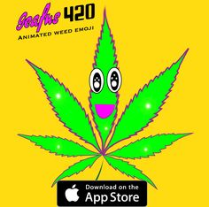 Geafus 420 Animated weed emoji for iPhone iMessages. #420 #weedemoji #ganjamoji #weedgif