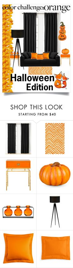 """""""Halloween edition"""" by kiara-neely ❤ liked on Polyvore featuring interior, interiors, interior design, home, home decor, interior decorating, Miller Curtains, nuLOOM, BoConcept and Improvements"""