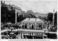 Inauguration Volsk Garten 1907. Place in 1907 to the inauguration in the presence of the Emperor and some members of the family Elisabeth Wittelsbach Dukes in Bavaria, a monument to the glory of the Empress Elisabeth.  Vienna Austria.