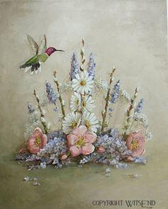 Fairy Crown painting fantasy stil life original ooak by 4WitsEnd