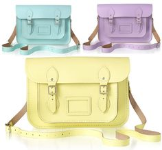 New pastel shades from the Cambridge Satchel Company