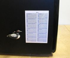 """Year-at-a-glance calendars with magnetic 4""""x6"""" acrylic frame for 2014, 2015, 2016."""
