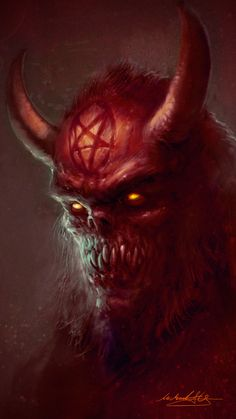 Welcome To Hell by MitchGrave demon devil horns monster beast creature animal | Create your own roleplaying game material w/ RPG Bard: www.rpgbard.com | Writing inspiration for Dungeons and Dragons DND D&D Pathfinder PFRPG Warhammer 40k Star Wars Shadowrun Call of Cthulhu Lord of the Rings LoTR + d20 fantasy science fiction scifi horror design | Not Trusty Sword art: click artwork for source