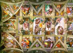 I can only imagine how amazing this is in person: Sistine Chapel, Rome