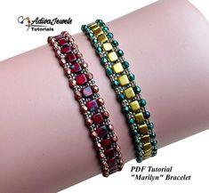 Beaded Bracelets Tutorial, Beaded Bracelet Patterns, Seed Bead Bracelets, Beaded Jewelry, Beaded Bead, Jewelry Patterns, Wire Jewelry, Jewlery, Handmade Jewelry