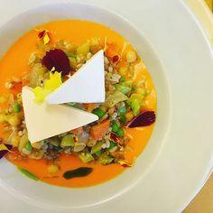 Piatto vegetariano: fresco di cereali, verdure e legumi su coulis di pomodoro fresco e Seirass.  L'eccellenza. #whatitalyis #ilbellodellitalia 🇮🇹 ______________ #browsingitaly #lapiola #ceretto #alba #ig_piemonte #igers_langhe #instalallegra #food #foodstagram #onthetable #tv_lifestyle #tv_pointofview