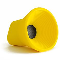 Take your music with you with the amazing KAKKOii WOW speaker yellow