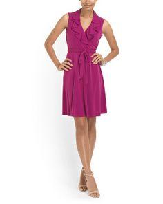 Ruffle Front Jersey Dress - tjmaxx