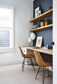 12 study nook ideas for your home – Home Office Design Vintage Desk Nook, Office Nook, Home Office Space, Home Office Design, Home Office Decor, Office Furniture, Home Decor, Small Office, Office Ideas