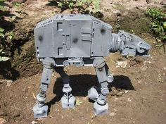 Imperial Walker (AT-AT) from recycled computer parts