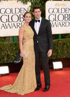Emily Blunt shows just the right amount of skin in a gilded gown by Michael Kors, worn with Vince Camuto shoes and Ferragamo clutch.    Read more: Golden Globes Red Carpet 2013 - Pictures from 2013 Golden Globes Red Carpet - Harper's BAZAAR  Follow us: @Kerry Pieri on Twitter   HarpersBazaar on Facebook  Visit us at HarpersBAZAAR.com