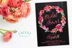 Hey, I found this really awesome Etsy listing at https://www.etsy.com/listing/235653344/bridal-shower-invitation-floral-shower