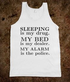Sleeping is My Drug. Make a script of this. No speech. All action.one person. One room. And maybe a squirrel qt the window.