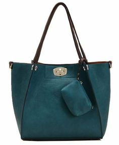 1d029b98d96e Stylish Women s Shoulder Bag With Solid Color and Small Wallet Design (BLUE)