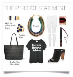 """""""The Perfect Statement"""" by stelladot ❤ liked on Polyvore featuring Stella & Dot, Vince and Topshop"""