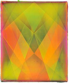 Shannon Finley Rhombus (Sun)Acrylic on canvas18 x 15 in., 46 x 38 cm. 2013