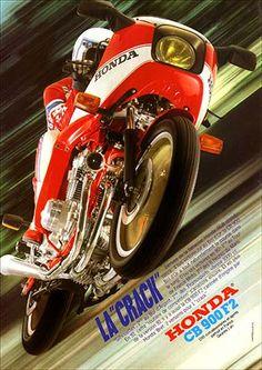 "23219. - MOTORCYCLE - HONDA 1981 - CB 900 et 900F2  - La ""crack"" - 29x41-."