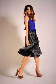 High Waisted Sparkle Skirt