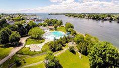 Deux parcs de la région classés parmi les plus beaux au Canada | VIVA MÉDIA Fitness En Plein Air, Grand Parc, Destinations, Parcs, Canada, Golf Courses, River, Outdoor, Centre