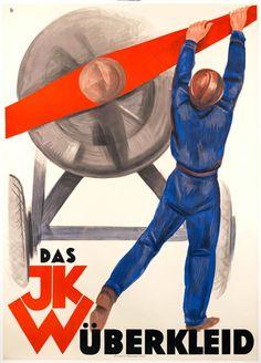 Das JKW Uberkleid by Baumberger, Otto (1930)   Shop original vintage posters online: www.internationalposter.com