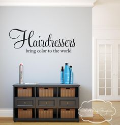 Hair Salon Wall Decal Vinyl Lettering Hairdresser Hair Stylist by OZAVinylGraphics